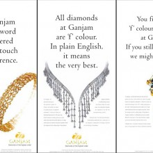 Ad Campaign for Ganjam 'F' Color Diamonds