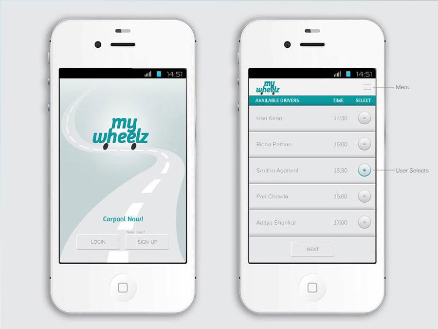Mobile App Design For Carpooling App Joanne Debrass
