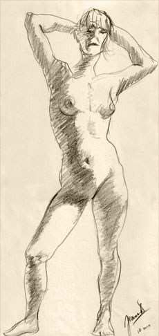 Life Drawing – 10 minute Sketch